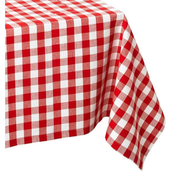 Design Imports Checkers Red & White Tablecloth ($70) ❤ liked on Polyvore featuring home, kitchen & dining, table linens, red and white tablecloth, picnic tablecloth, cotton table cloth, red and white picnic tablecloths and checkered picnic tablecloth