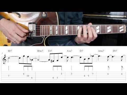 Jazz Guitar Lesson #32 - Progression #3 (Blues for Ali) - Improvisation #8