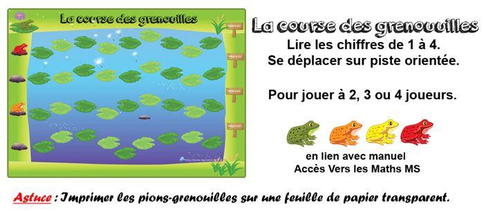 La course des grenouilles : jeu de plateau