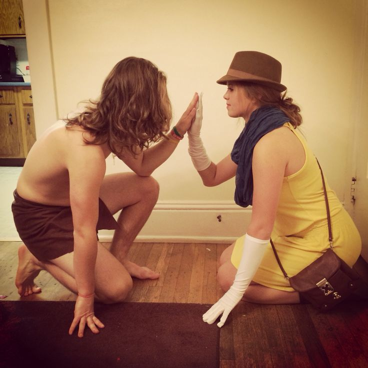 DIY Tarzan and Jane Halloween Costume