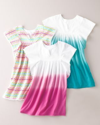 Seaside Cotton Cover-Up - Baby Girls  Girls. Size small. Pink or blue.