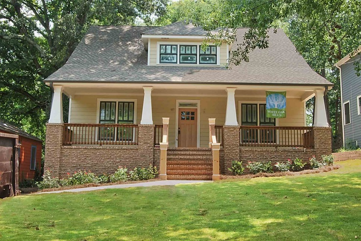 A craftsman style new home in the white oak hills for Atlanta craftsman homes
