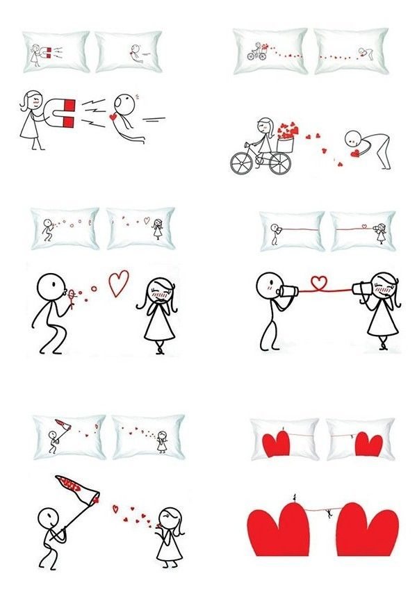 originelle Geschenkideen Valentinstag-Kissen bedrücken