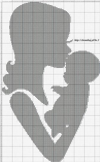 0 point de croix mere embrassant son bébé - cross stitch mother kissing her baby