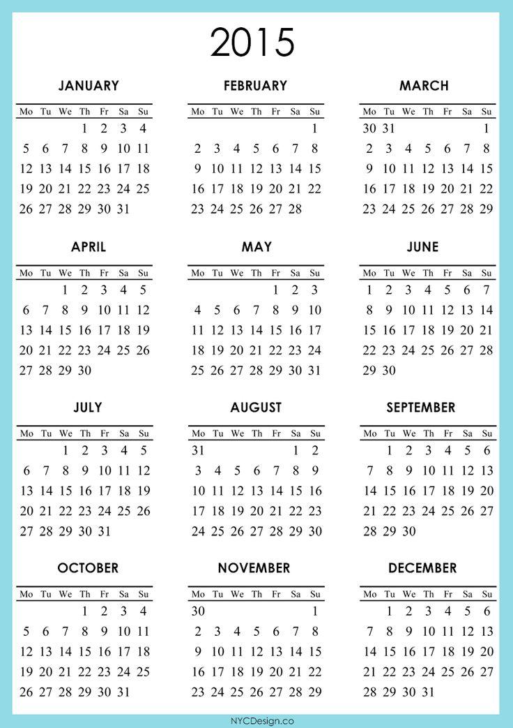 Calendar Monday Start : Monday start http nycdesign