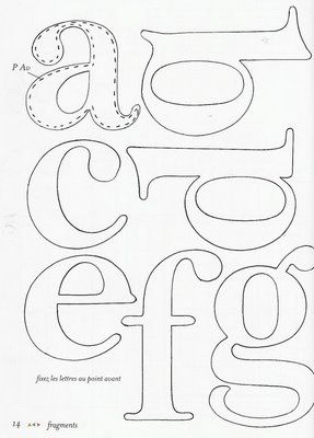 Molde de Letras 1 - Feltro | Flickr: Intercambio de fotos