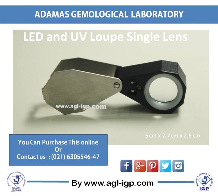 LED and UV Loupe is a handy sophisticated loupe equipped with LED and UV light. LED light is for lighting the diamond, while UV light is very useful to look the diamond fluorescence with 10 x magnification