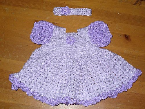 Crochet Ruffled Baby Dress Pattern : 177 Best images about Crochet: Baby/Child Dresses, Etc. on ...