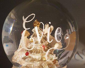 Personalised Snow Globe   Princess Christmas Snow Globe   Mouse Snow Globe   Custom Glass Snowglobe   Christmas Gift Ideas   Snow Globes