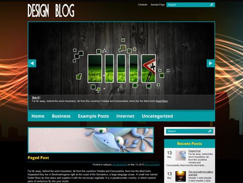 DesignBlog is excellent choice for those looking for WordPress theme for personal website. It supports and comes with custom widgets, drop-down menus, javascript slideshow and lots of other useful features.