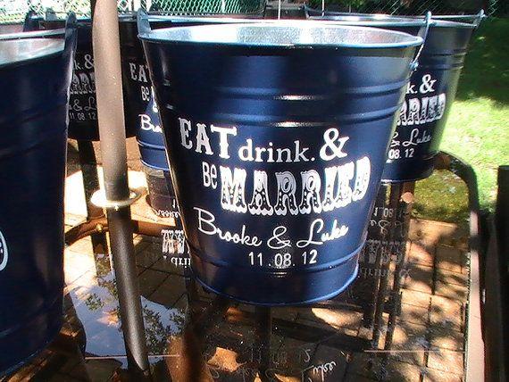 Custom Backyard Wedding Bucket by RightInMyOwnBackyard on Etsy,