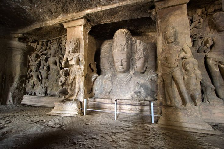 The #Elephanta #Island is the site of the #magnificent #Elephantacaves, one of the principal #tourist #attractions of the #Mumbai city containing #beautiful carvings, #sculptures, and a #temple to the Hindu God, Lord #Shiva. #stonecaves #travel #wandering #maharashtra #ancient