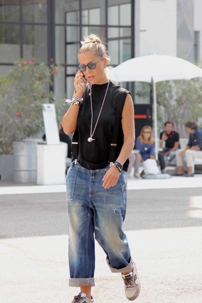 fashionbleeker is Denim Overalls on location via Tortona in Milan, IT