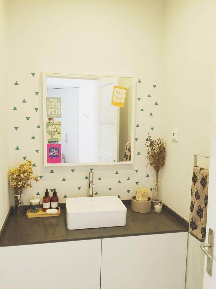 Triangles wallstickers bathroom