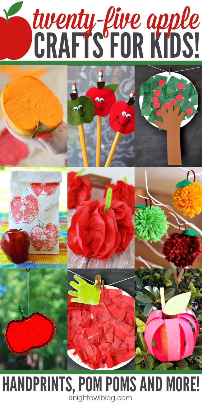 Fall crafts for adults to make - 25 Apple Crafts For Kids Here Are Tons Of Great Apples Craft Projects That You