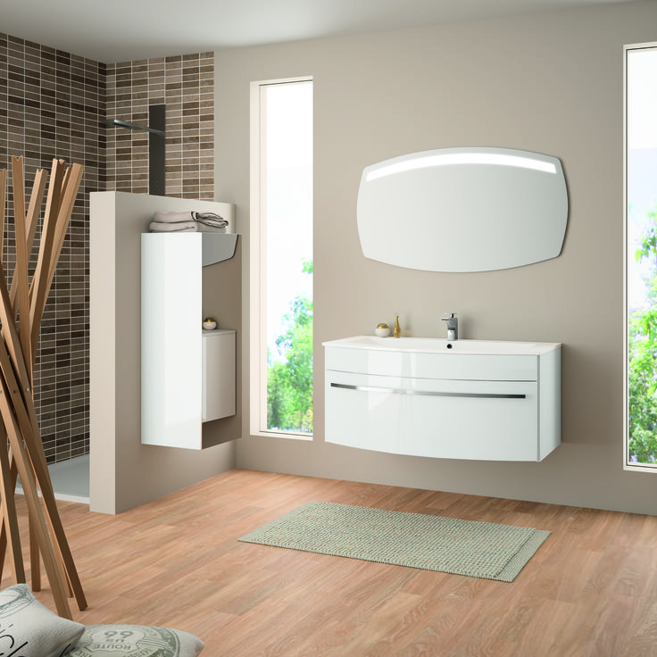 17 meilleures images propos de id es de salles de bain - Carrelage salle de bain point p ...
