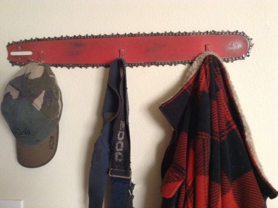 chainsaw bar hatcoat rack by SandSCountryCrafts on Etsy