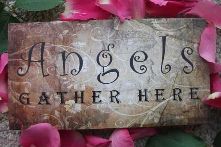 Angels gather here, memorial, remembrance, home decor, HANDMADE plaque