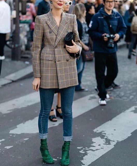 blazer coat with jeans
