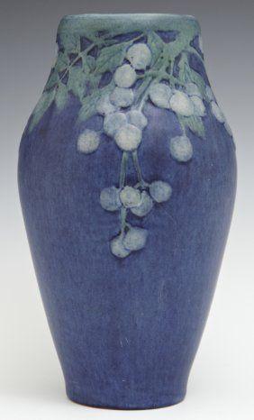 Newcomb College Art Pottery Matte Glaze Baluster Vase, : Lot 442