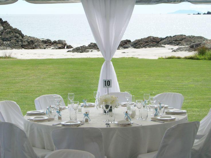 Private beach wedding through Waiheke Island Weddings and Events