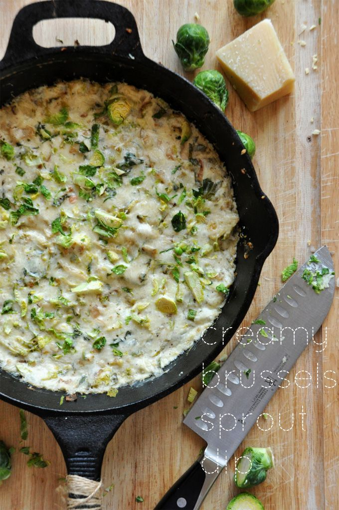 Another Pinner: Creamy Brussels Sprout and Shallot Dip-This was so good! I made it for a dinner party and served it as soon as I cooked it. I doubled the recipe and it was gone before I got the main dish in the oven. Everyone loved it, even people who don't like brussels sprouts. I served it with pita chips, grilled flatbread, and tortilla chips. I will definitely make it again.
