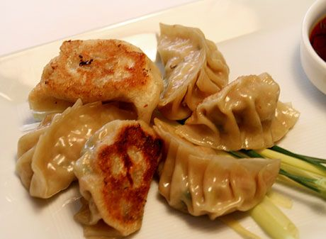 Pork and Chive Dumplings with Dried Shrimp - amazing!! these are the ...