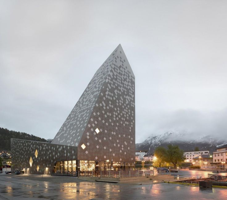 Reiulf Ramstad Arkitekter has completed a striking new mountaineering centre in Norway
