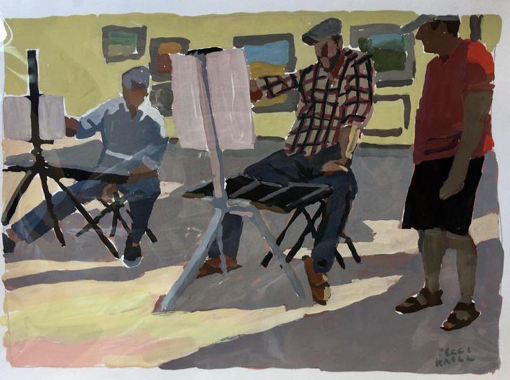"Peggi Kroll Roberts (@peggikr) on Instagram: ""Last Year. #gouachepainting #fromlife #colorandvalue #lightandshadow #painters #pleinaire"""