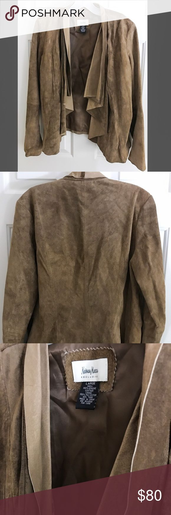 NWOT Suede Moto Jacket — Neiman Marcus Authentic Suede Moto Jacket! I ordered this beautiful jacket online from NM, but sadly it didn't fit. I waited too long to return it, and it doesn't have tags. But I promise it's never been worn. Neiman Marcus Jackets & Coats