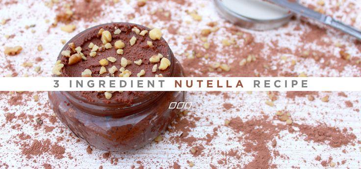 3 ingredient nutella recipe
