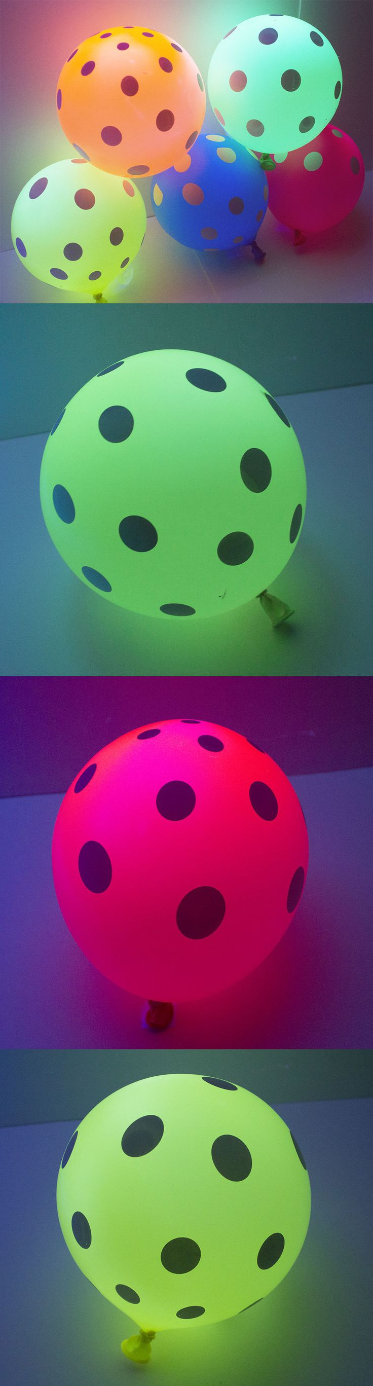 Other Kids and Teens Items 176989: Neon Black Light Uv Active Balloons Polka Dot 100Pc Assorted Colors Latex Helium -> BUY IT NOW ONLY: $38 on eBay!