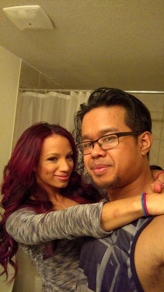 Sasha banks with her husband