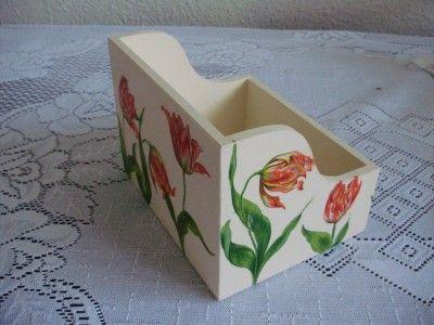 cudARTeńka: pojemnik na CD z tulipanami
