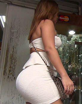 Big ass mini skirt