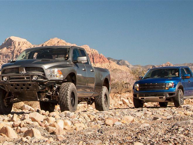 Sand Speeders: 2012 Ford Raptor vs. 2012 Ram Runner Comparison