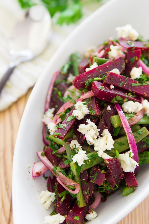 Roast Beet and Green Bean Salad recipe from PBS Food.