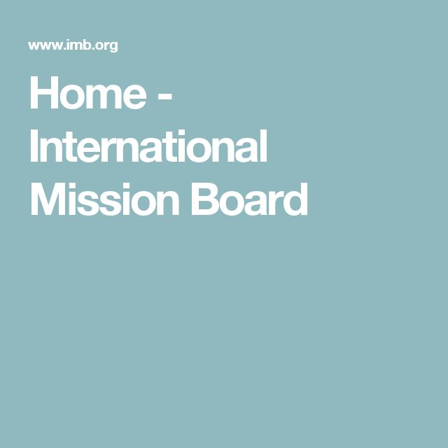 Home - International Mission Board