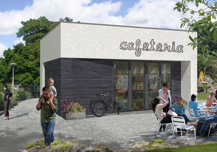 DOM.PL™ - Projekt domu ARG Punkt handlowy U-04 CE - BUDYNEK AG4-22 - gotowy projekt domu