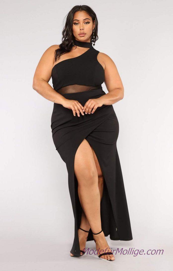 Schwarzes langes Trägerkleid 2019 Kleider für Mo…