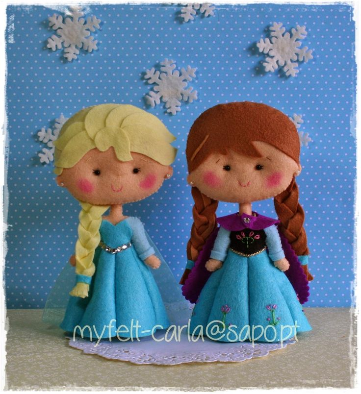 Elsa e Anna - Frozen! Very Cute. Per pinner they have been made by adapting patterns listed in post. ??