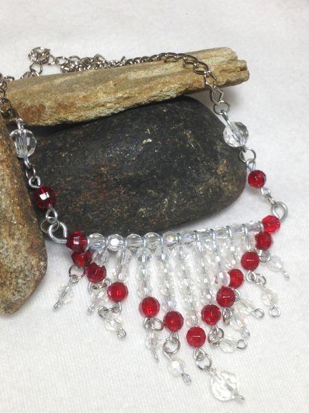 Colar Franjas Vermelho - Red Chandelier