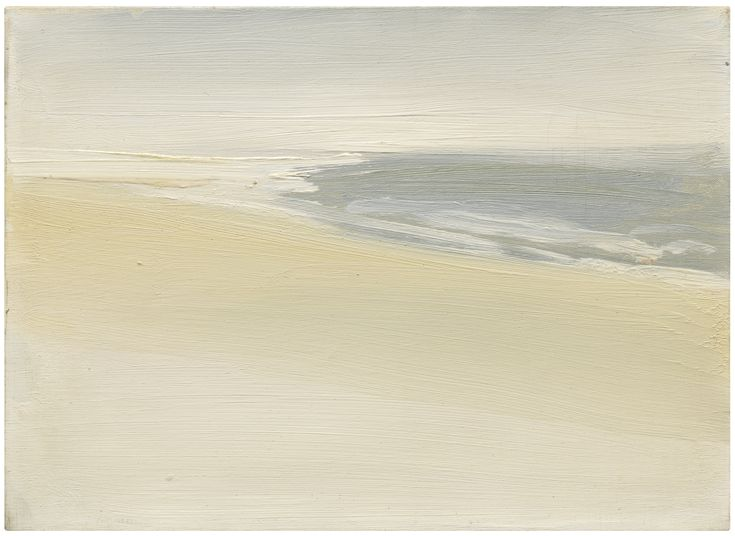 NICOLAS DE STAËL 1914 - 1955 PAYSAGE BORD DE MER stamped with the artist's signature on the reverse  oil on canvas,  9 1/2 by 13 in.  Executed in 1954.