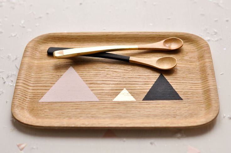 diy geometric patterned tray