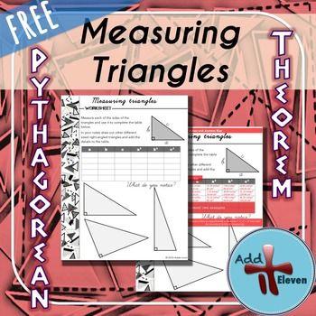 Measuring Triangles- Pythagorean theorem task