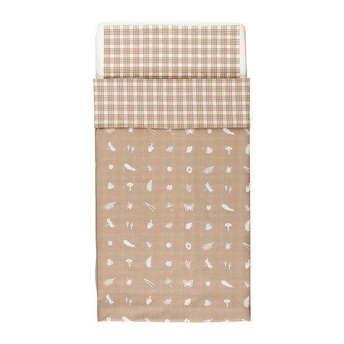 VANDRING SKOG Crib duvet cover/pillowcase IKEA Cotton is soft and feels nice against your child's skin.