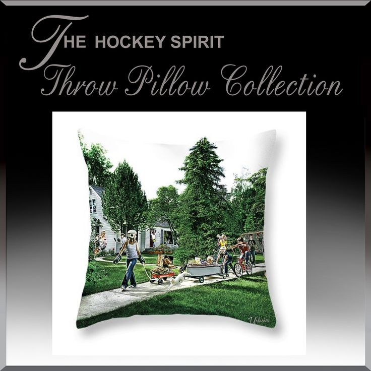 Hockey Spirit Bedroom Throw Pillows.  Over 100 Styles and unique sizes to choose from.  www.HockeyArt.org