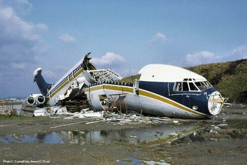 British Caledonian Airways VC-10 at the scrappers