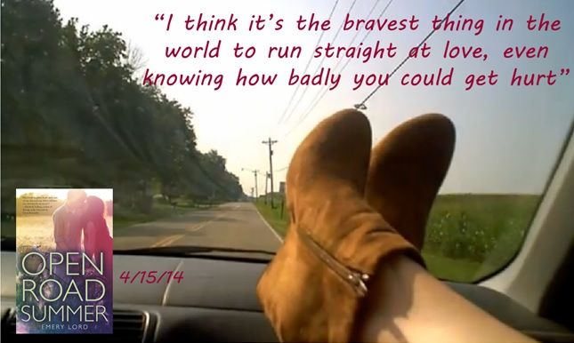 One of my favorite lines from Open Road Summer.