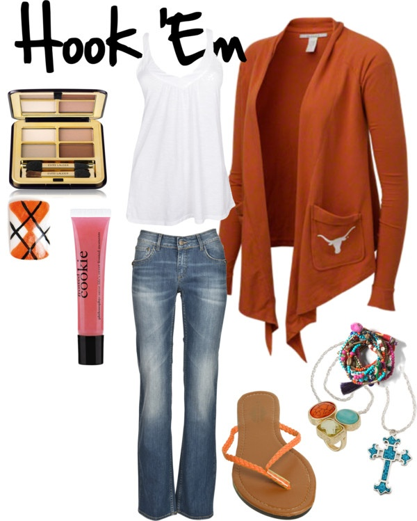 """Hook Em"" by texasweets ❤ liked on Polyvore"